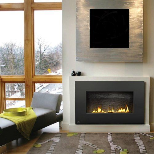 Amazon.com - Napoleon Plazmafire Vent Free Wall Mount Natural Gas Fireplace With Painted Black Rectangular Surround -