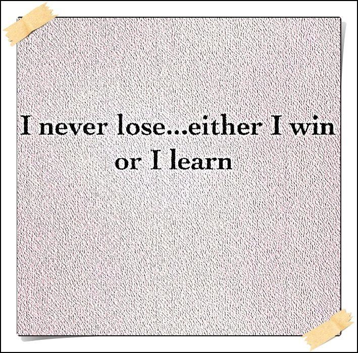 Jak nigdy nie przegrać......