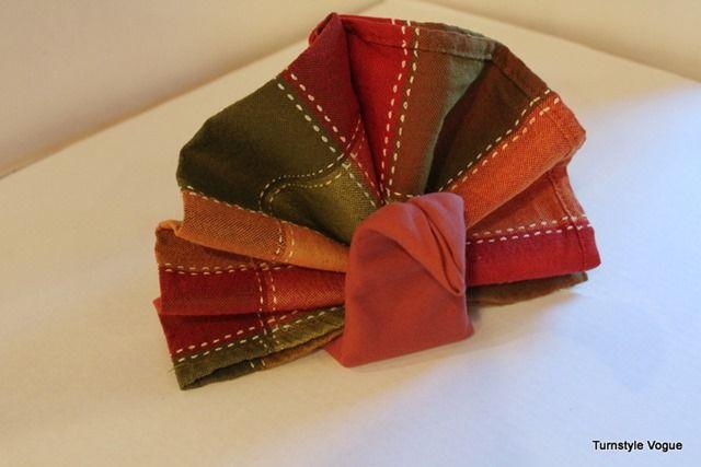 Best 25 thanksgiving napkin folds ideas on pinterest for How to fold napkins into turkeys