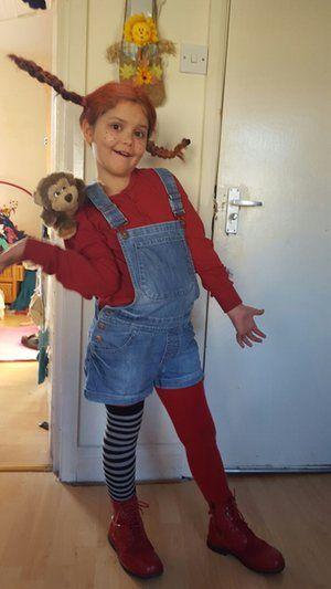 Pippi Longstocking costume for World Book Day!