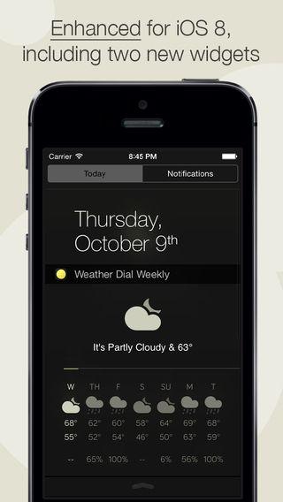 Weather Dial 2 - A Simpler, More Beautiful Weather App David Elgena 깔끔한 날씨 어플 위젯으로 바로 등록가능 디자인 예쁜 날씨 어플2탄