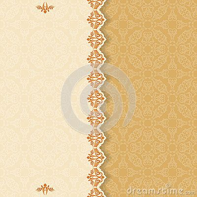 Vintage background with divider and beautiful arabesque