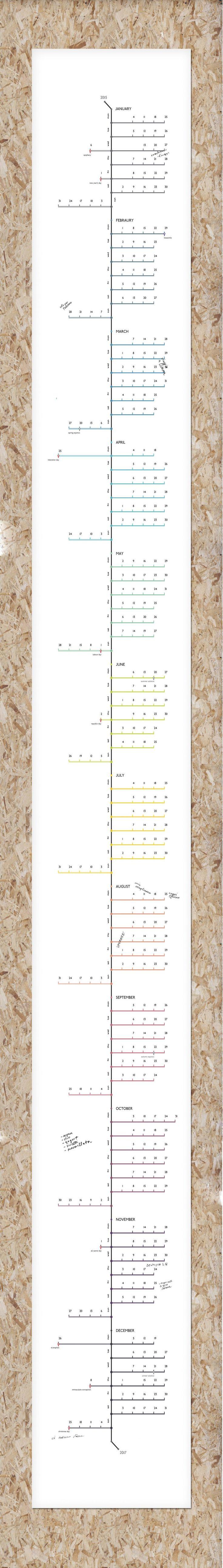 graphic design for walebe wall calendar  |  animalform ∼ design studio
