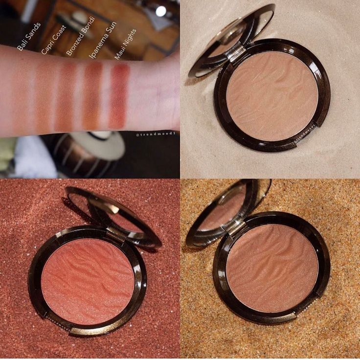 Becca Sunlit Bronzer Swatches Of Shades Bali Sands For