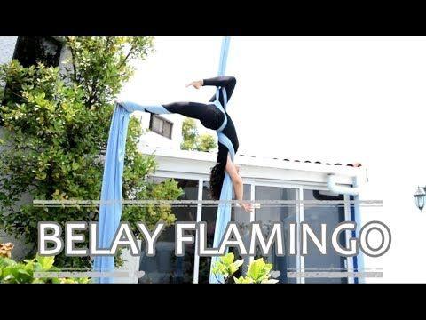 Belay Entry Flamingo // Cross con Flamingo (Aerial Silks//Danza Aérea) - YouTube