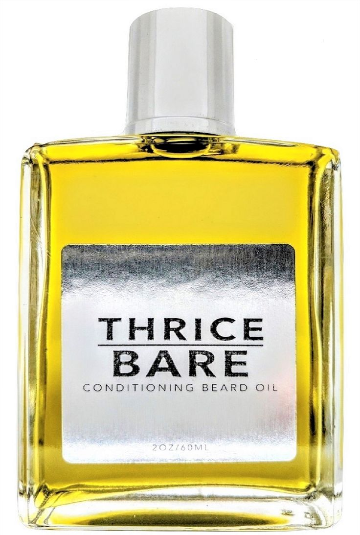Thrice Bare Conditioning Beard Oil - 2 fl oz UnScented Beard Softener 100% All Natural Leave In Conditioner for Men