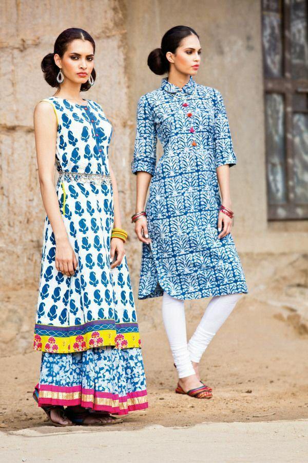 Cotton blue kurti