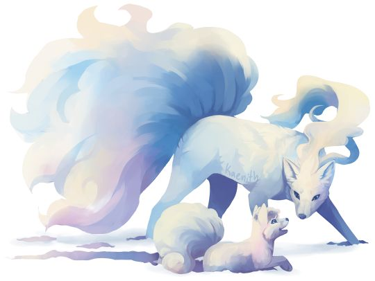 The Alolan Variants Of Vulpix And Ninetales Are So Pretty By Kaenithtumblr