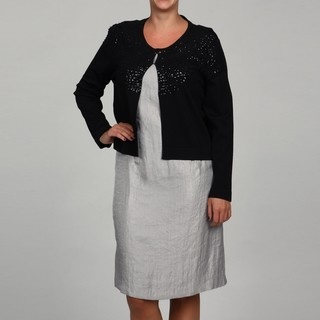 @Overstock - Luxurious sequins add a stylish flair to this sweater from Jessica Howard. This fashionable sweater features 3/4-length sleeves and a front closure.http://www.overstock.com/Clothing-Shoes/Jessica-Howard-Womens-Plus-Size-Sequined-3-4-Sleeve-Sweater/6089911/product.html?CID=214117 $55.99