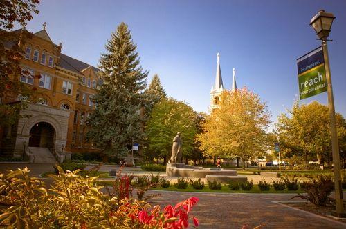 The fall colors at Gonzaga University in Spokane, Washington