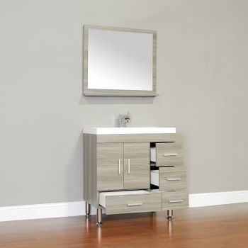 Images Photos The cabinet in this modern bathroom vanity is pretty handy in size uac uc L x H x D inches