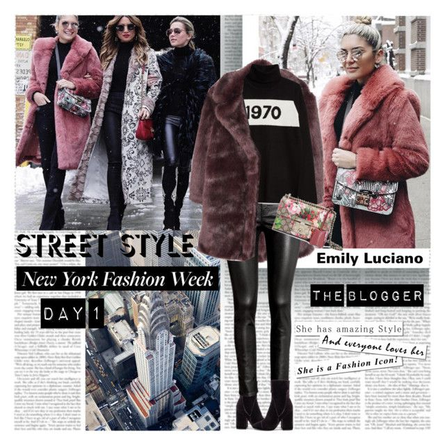 New York Fashion Week Day1 the Blogger by stylepersonal on Polyvore featuring polyvore, fashion, style, Bella Freud, MANGO, H&M, Kendall + Kylie, Gucci, clothing, StreetStyle and NYFW