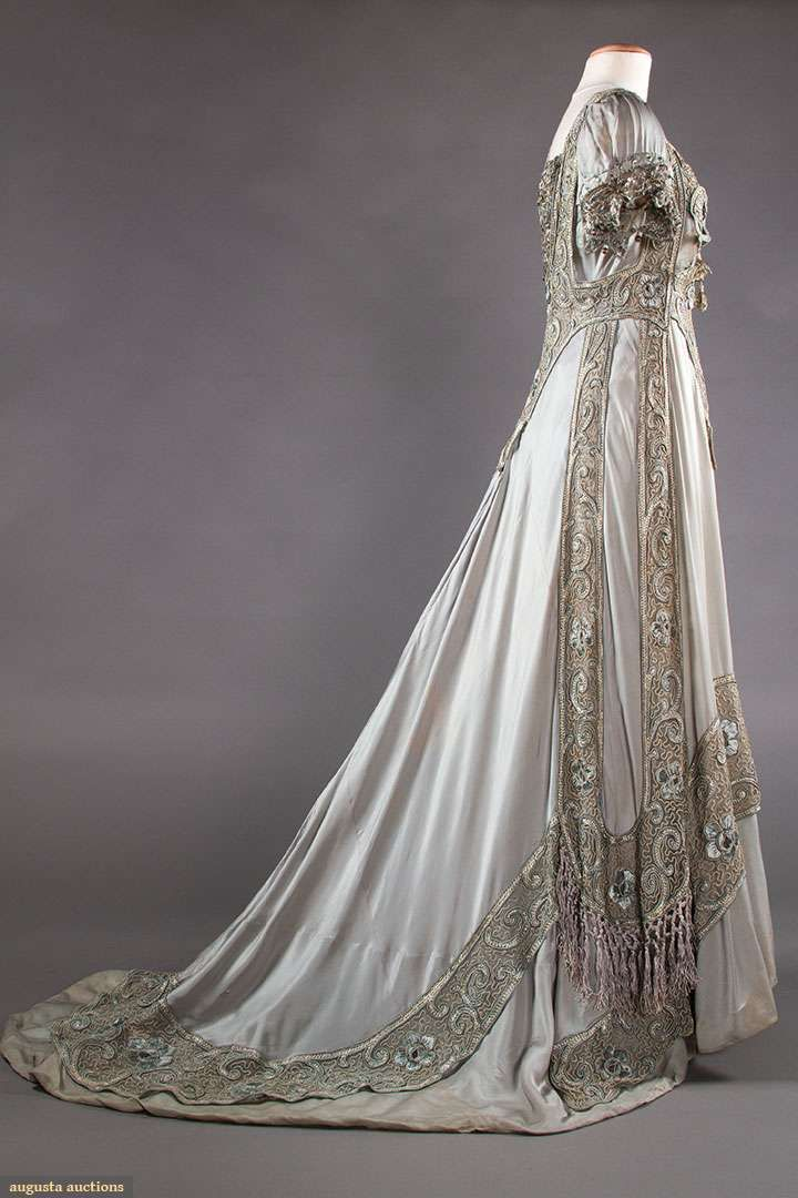 Blue silk ball gown new york c 1910 sold may 8 2018