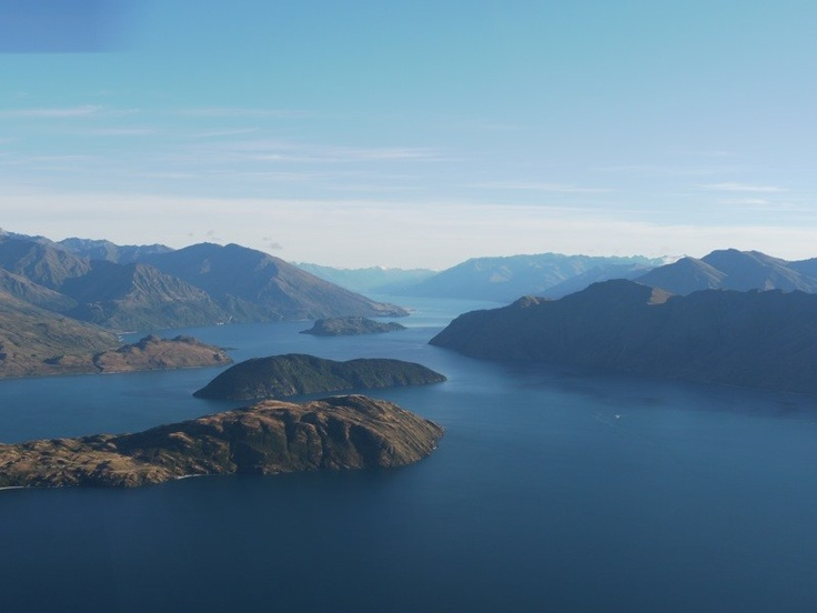 Lake Wanaka from the helicopter. Fly fishing the scenic way. www.southernriversflyfishing.co.nz