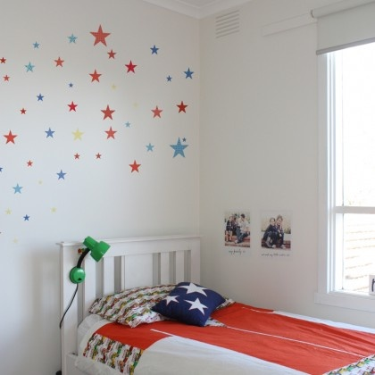Wall Decals - Stars seen on Dulux walls colour China White
