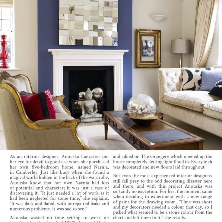 Just another gorgeous picture The French Bedroom Company are loving on Instagram: #camberleyproperty #surreyproperty #surreylife #wowinteriors #farrowandball #packhouse #cushions #frenchbedroomcompany #pedlarsplace #sofadotcom #blue #eclectic #interiordesign #sofa #livingroom #lounge #press #feature #hearthomemagazine #magazine #anouskalancaster #noushkadesign #local #colourfulinteriors #home #house #familyhome #narnia by noushka_design