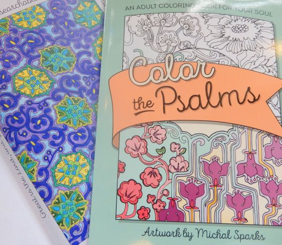 My beautiful coloring book is out!! 37 pages of coloring beautiful antique textile patterns with the Psalms!