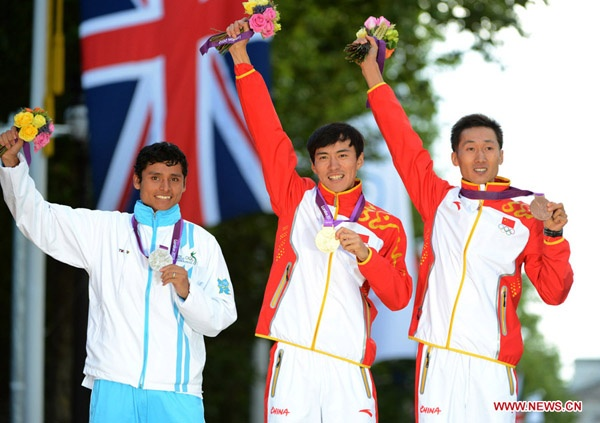 Chen Ding makes history for China after winning men's 20km race in London - Xinhua | English.news.cn