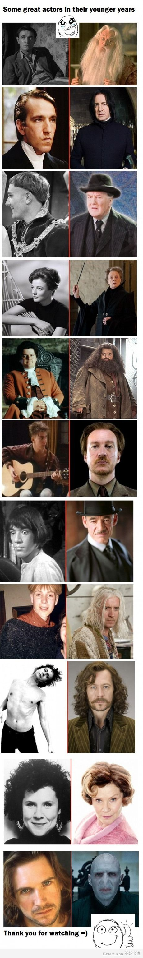 337 best images about harry and ginny on pinterest harry birthday - Harry Potter S Adult Actors In Their Younger Years Original Dumbledore Was Kinda Hot Back In