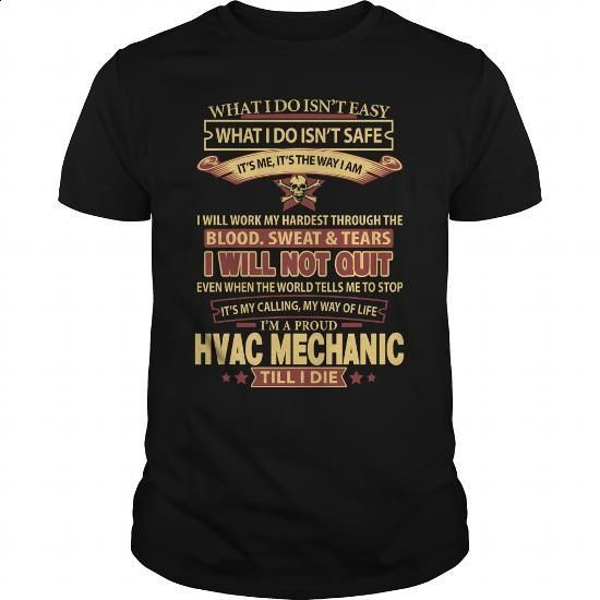 HVAC-MECHANIC - #shirts #free t shirt. ORDER HERE => https://www.sunfrog.com/LifeStyle/HVAC-MECHANIC-145040178-Black-Guys.html?60505