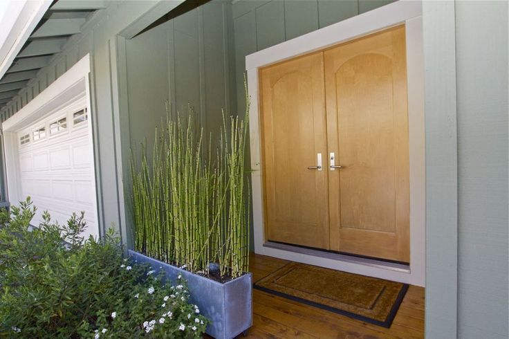 Asian Front Door with American Native Bamboo Plant