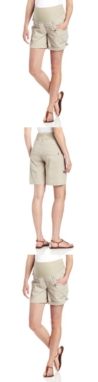 Ripe Maternity Women's Maternity Smith Shorts, Stone, Medium