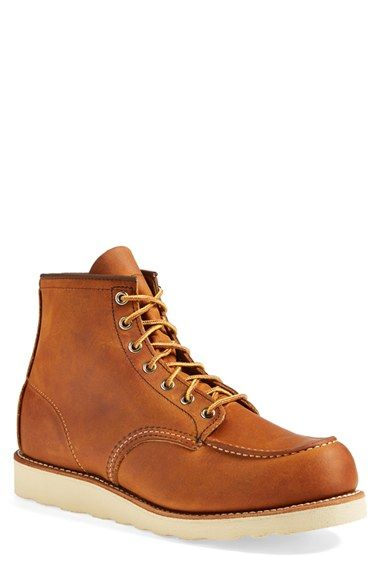 Red Wing Moc Toe Boot (Men) at Nordstrom.com. A sharp contrast sole grounds a classic, Americana boot formed from oiled nubuck leather for a rugged outlook.