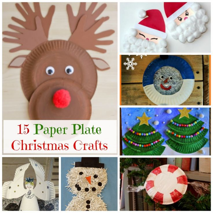 15 paper plate Christmas crafts. Simple ways to get into the holiday spirit with your kids! How Wee Learn