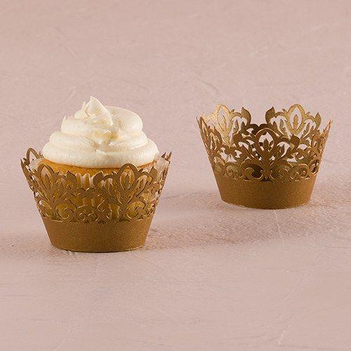 Classic Damask Filigree Paper Cupcake Wrappers - Confetti.co.uk