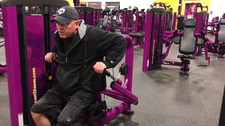 Planet Fitness Triceps Press Machine- How to use the triceps press machine - YouTube