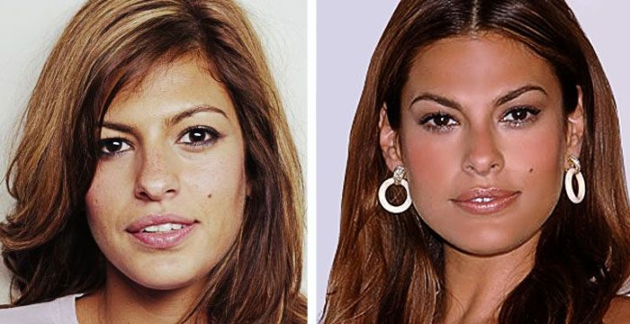 | Eva Mendes Nose Job Plastic Surgery Before and After - Celebrity ...