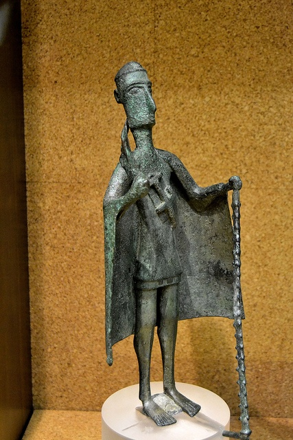 "Nuragic votive figurine - ""Tribal chief""    Bronzes of the Nuragic age    National Archeological Museum - Cagliari"