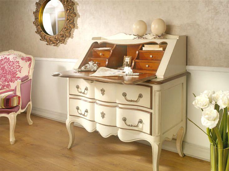 Secreter vintage calypso material madera de cerezo mueble for Mueble secreter