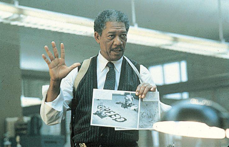 """Se7en"" movie still, 1995.  Morgan Freeman as Detective Somerset."