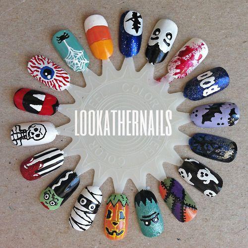 lookathernails: Finally finished my halloween nail art wheel. I... - fuckyeahprettynails