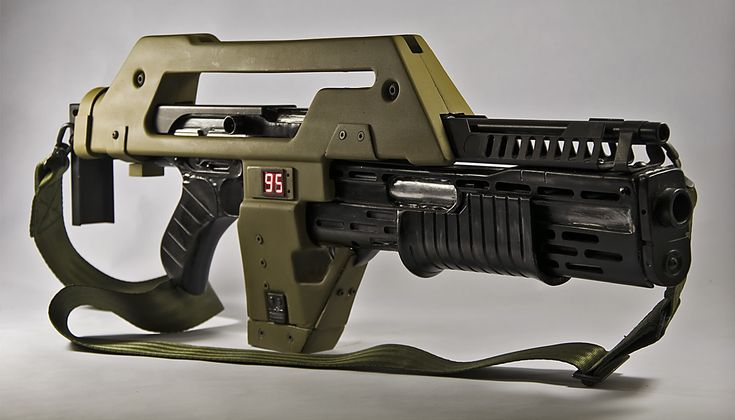 Now, you can't be a Colonial Marine without the standard issue M-41 A Pulse Rifle.