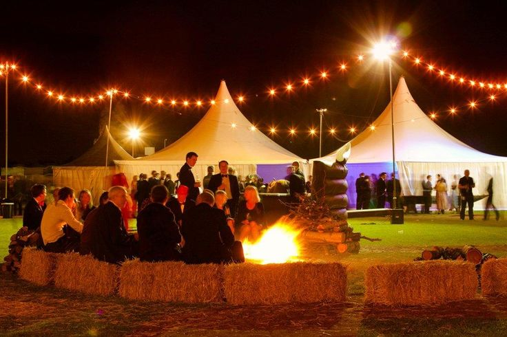 A wonderful birthday party at the Polo Club!  Compete with entertainers, chill out tents and of course the music tent all surrounding a huge bonfire and fairy lights.  Amazing!