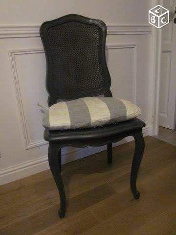 Chaise Style Louis Xv Cann 233 E Patin 233 E Noire Ameublement