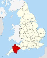 Devon within England