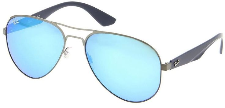 Buy Ray Ban Aviator Sunglasses for Men - Blue Mirror Lens, RB3523-029/55 59 - Eyewear | KSA | Souq