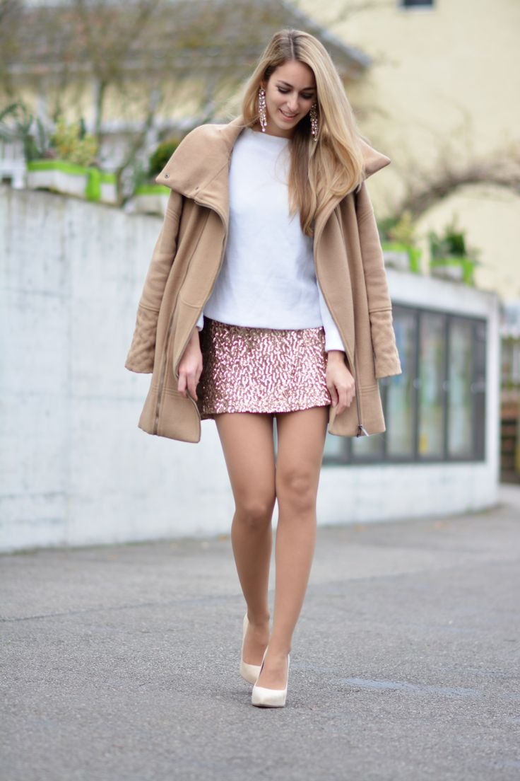 Tan, Nude, Sequins, Sheer, & White. A Neutral Outfit