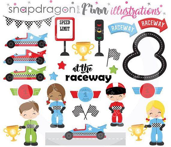 Racing Clipart Race Car Clipart Race Car Driver Clipart Racecar Clipart Digital Images Vector Images Commercial Lice Clip Art Birthday Clips Kids Clipart