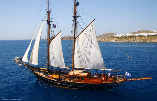 Ahoy there! A bounty of precious moments awaits you aboard the luxurious retro-style schooner, @Yacht Prince de Neufchatel #KivotosMykonos #yachtprince http://qoo.ly/fdv8r