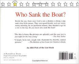 Who Sank the Boat? (Paperstar): Pamela Allen: 9780698113732: Amazon.com: Books