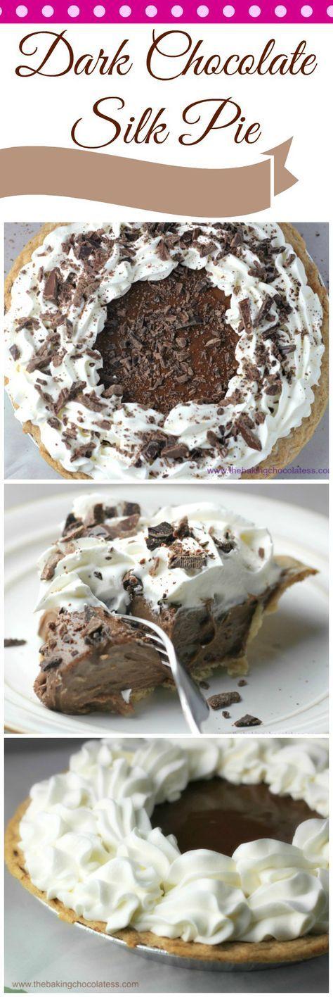 Dark Chocolate Silk Pie! It's Delectable!