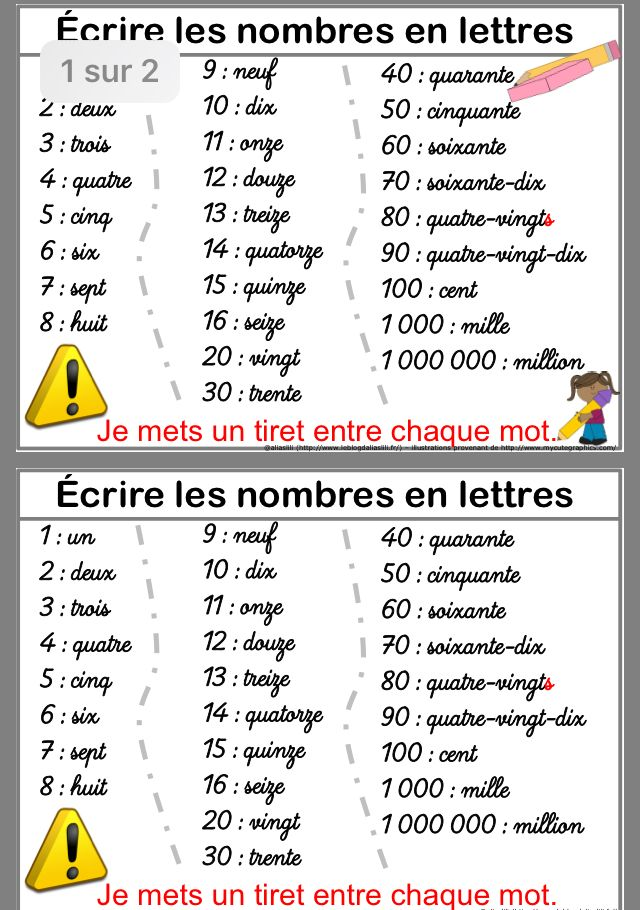 Epingle Par Essaghir Sur Ecole Les Nombres En Lettres Ecrire Les Nombres Enseignement Du Francais