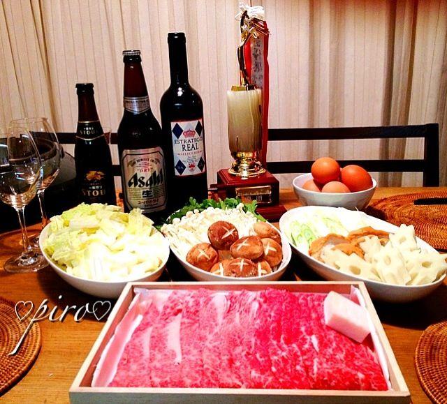 こんばんは 主人が今日の⛳ゴルフコンペで優勝しちゃいました 今夜は優勝記念品の松阪牛のすき焼き肉ですき焼きパーティーとなりました - 114件のもぐもぐ - ⛳ゴルフコンペ優勝記念品 松阪牛のすき焼きA-5   Matsusaka beef sukiyaki. by 0987hiropon