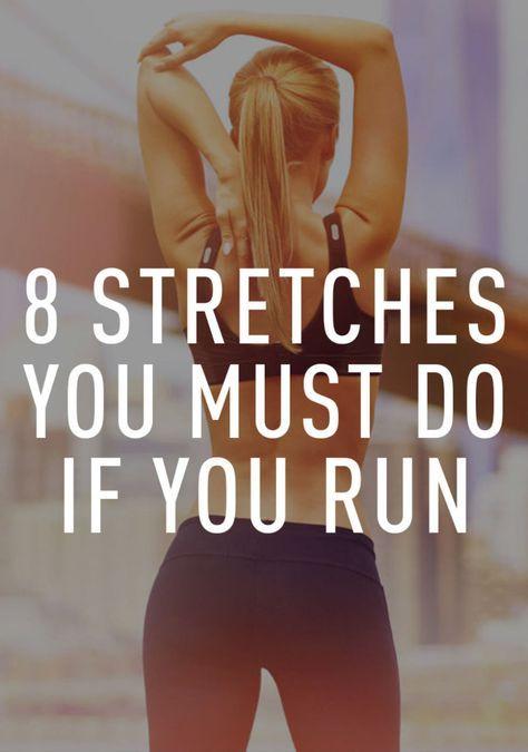 Stretches  tijdens en na het lopen