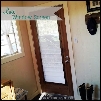 BE MADE: Lace Window Screen