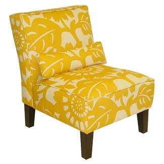 Skyline Furniture Armless Chair in Gerber Sungold: Slippers Chairs, Livingroom, Colors, Living Room, Master Bedrooms, Furniture, Armless Chairs, Accent Chairs, Yellow Chairs